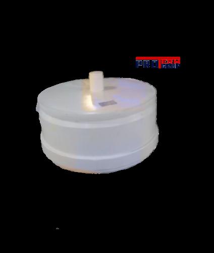 Заглушка для конденсационного дымохода с фланцем