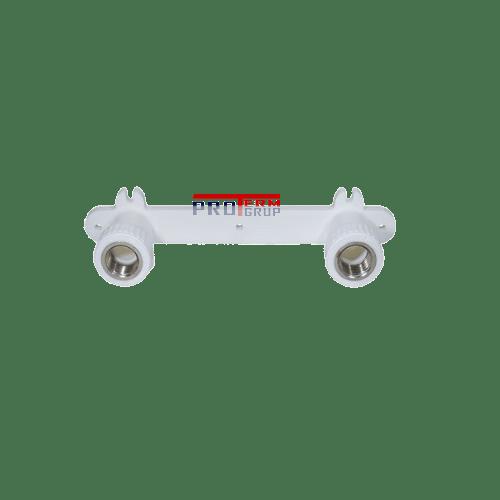 Уголок комбинированный с креплением, двойной PPR